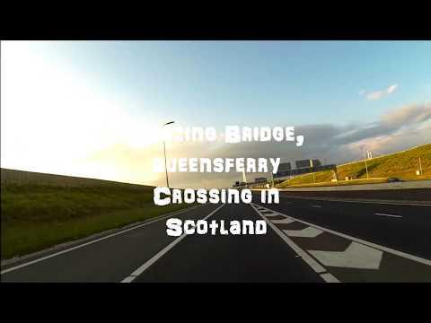 Driving Over The Queensferry Crossing Bridge Near Edinburgh In Scotland