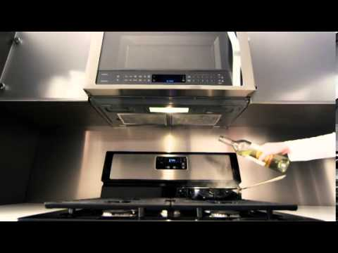 whirlpool over the range microwave auto adapt fan