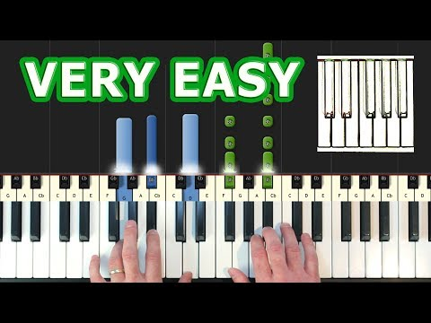 Pirates Of The Caribbean - He's a Pirate - Piano Tutorial Easy - How to Play (synthesia)