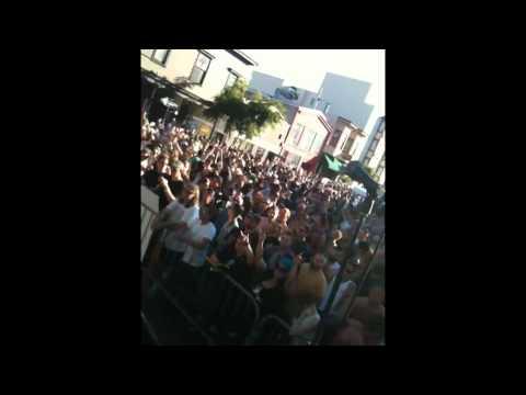 dj mc2 spinning at Folsom Street Fair (2010)