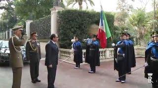 Al-Sisi Arrives in Italy