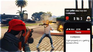 The Most Pathetic Tryhard on GTA Online (Kid Loses a 1v1 and Boots Me Offline)