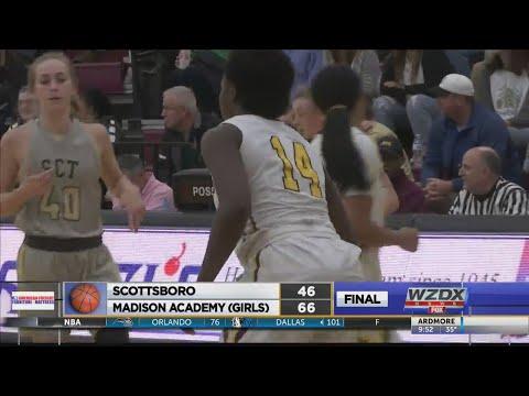 High School Basketball Action From Monday (Madison Academy Vs Scottsboro)