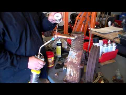 Converted Air Compressor to Gas Engine, part 1