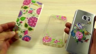 ОБЗОР: Гламурный Силиконовый Чехол-Накладка для Samsung Galaxy S7 SM-G930F с Рисунком