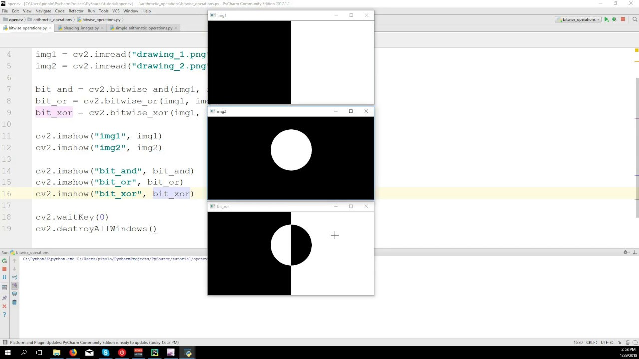 Bitwise Operators - OpenCV 3 4 with python 3 Tutorial 7