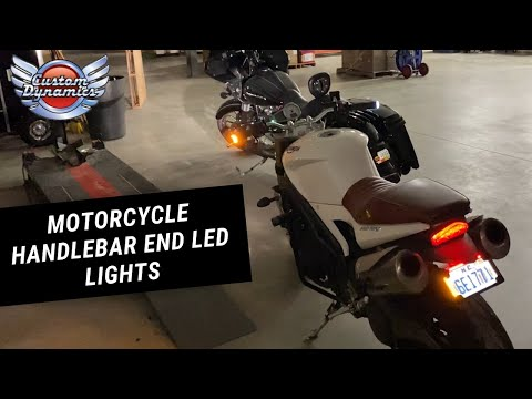Custom Dynamics Motorcycle Handlebar End LED Lights