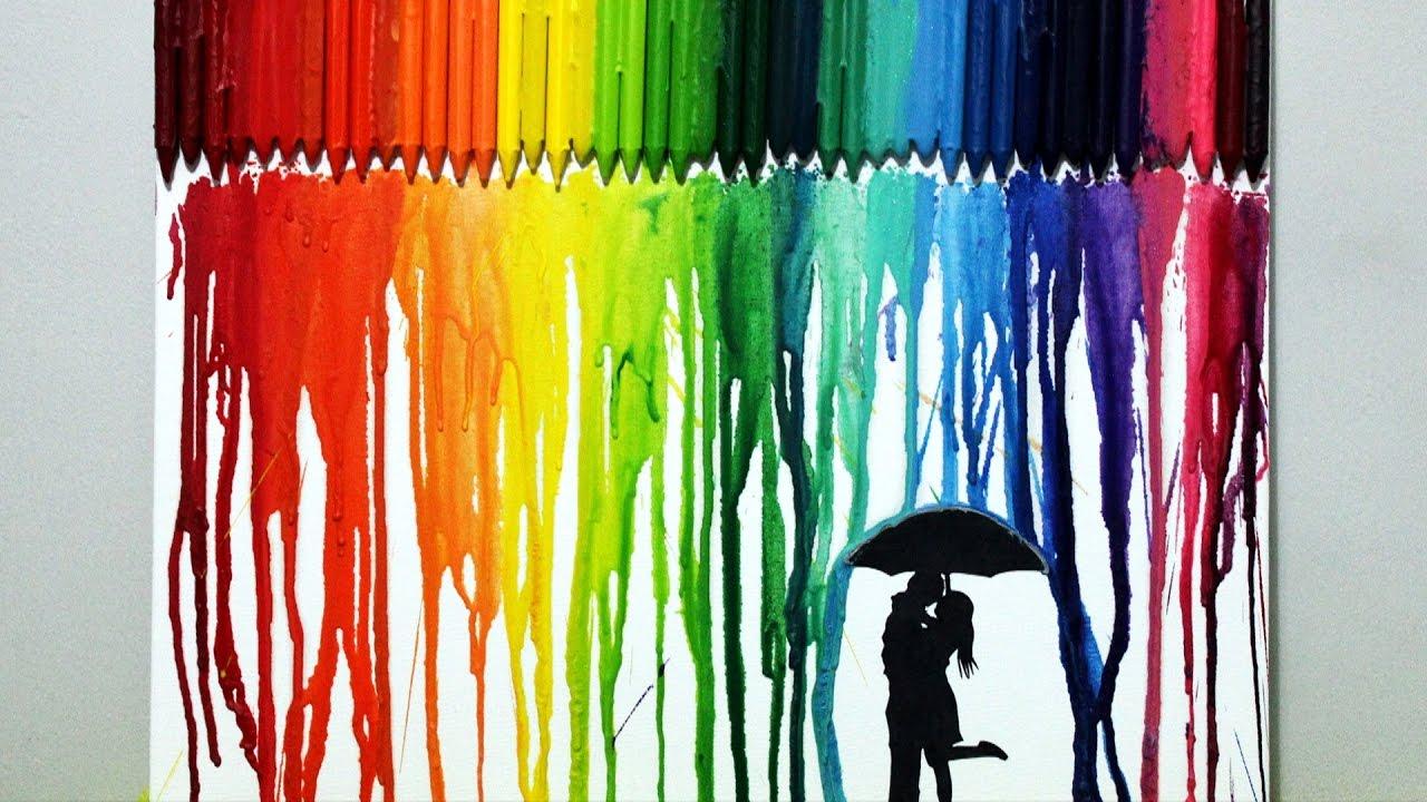 Crayon art crea tu propio cuadro multicolor muy f cil for Crea tu mural disney