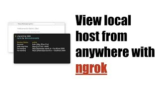 How to access localhost anywhere with ngrok