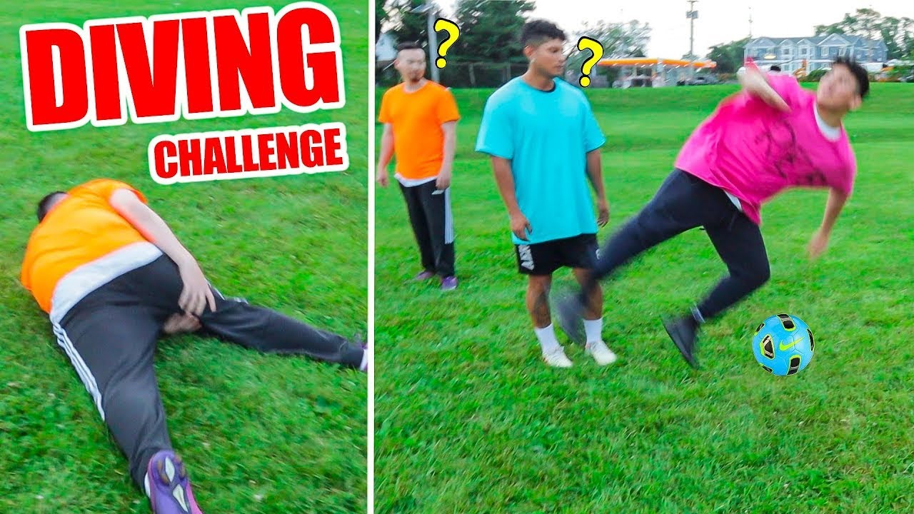 FOOTBALL DIVING CHALLENGE *inspired by Neymar