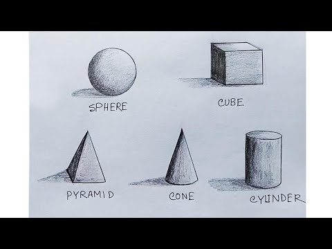 How to Shade basic forms ( 3D shapes ) step by step