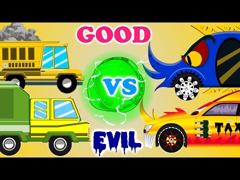 Taxi War | Good vs Evil | Scary Street Vehicles | Kids Videos