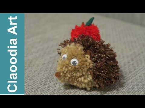 Jeż z pomponów (Hedgehog, the pompons, DIY)