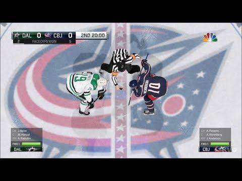 NHL 18 - Columbus Blue Jackets vs Dallas Stars - Gameplay (HD) [1080p60FPS]
