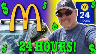 Living at McDonald's f๐r 24 Hours (Stealth Camping)
