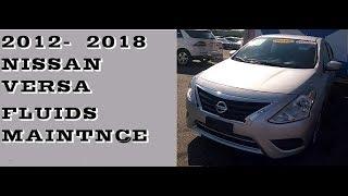 Nissan Versa Fluids under the hood 2012-2018