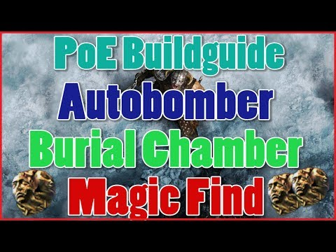 [3.4] Path Of Exile Buildguide - MF Autobomber Assassin HH Farmer(Burial Chamber)[Deutsch]