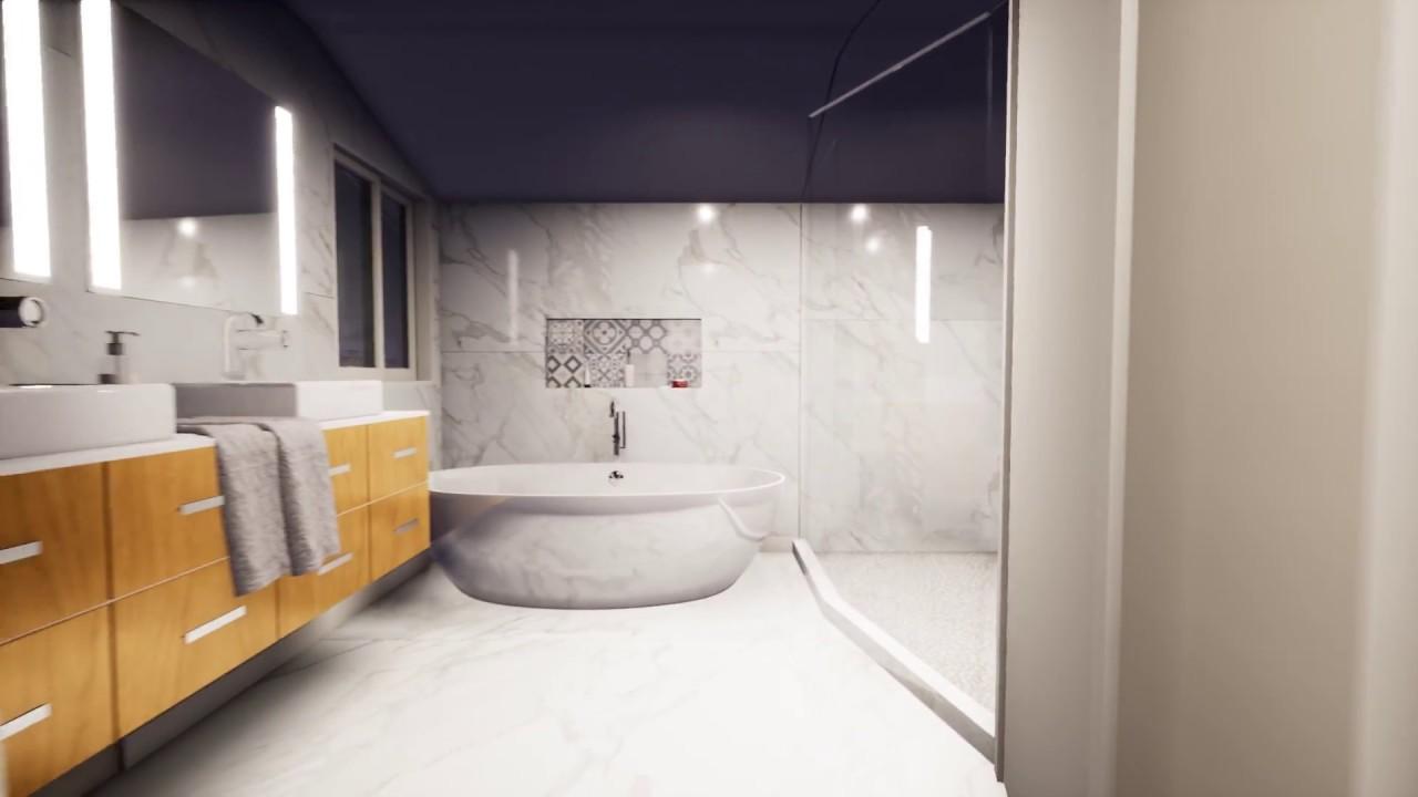 3D design - Master Bathroom Remodel in Danville - Option 1 - YouTube