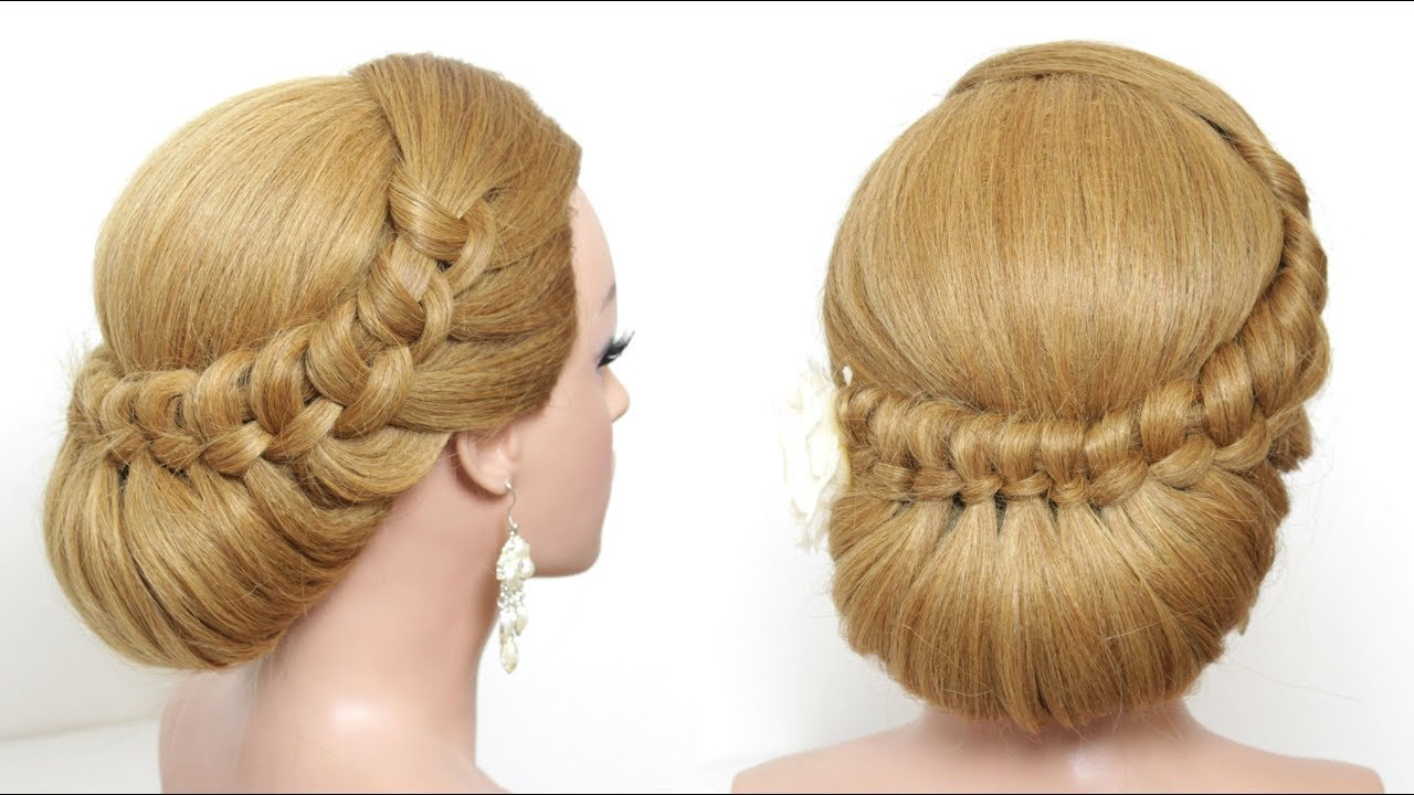 beautiful bridal hairstyle for long hair. wedding style