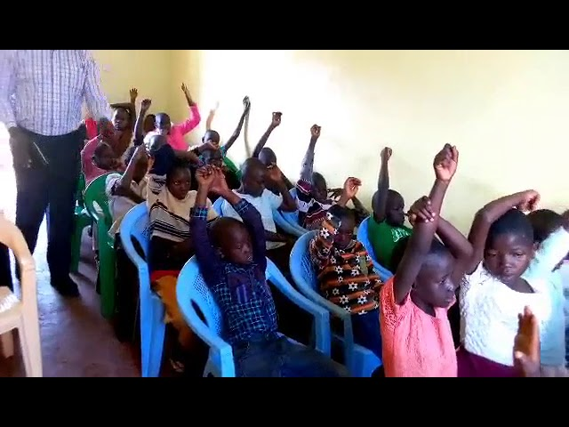 Bro Haron Teaching Children WFF Moi's Bridge Kenya 9-2-2018
