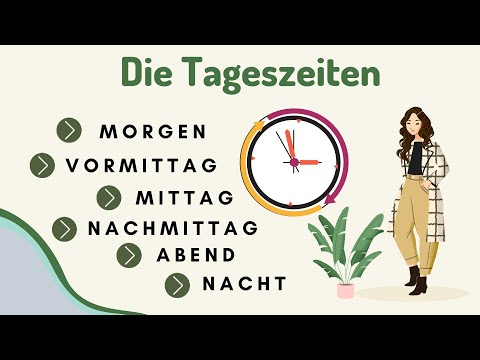 Deutsch lernen | Tageszeiten | Times of the day | Learn German