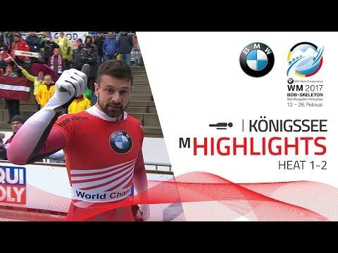 Highlights Heat 1-2   Martins Dukurs gets things straight   BMW IBSF World Championships 2017