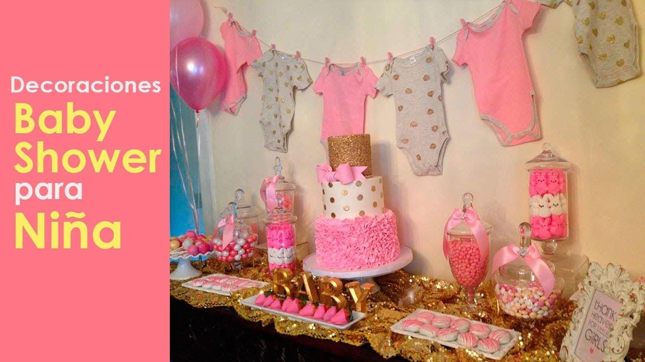 Ideas Para Decorar Baby Shower Nina.Decoracion Baby Shower Nina