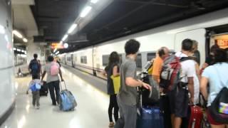アキーラさん乗車①タルゴ(モンペリエ⇒バルセロナ)・Talgo VI (Montpellier⇒Barcelona)