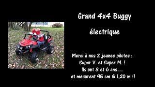 Grand 4x4 Buggy électrique - 4 moteurs 12V