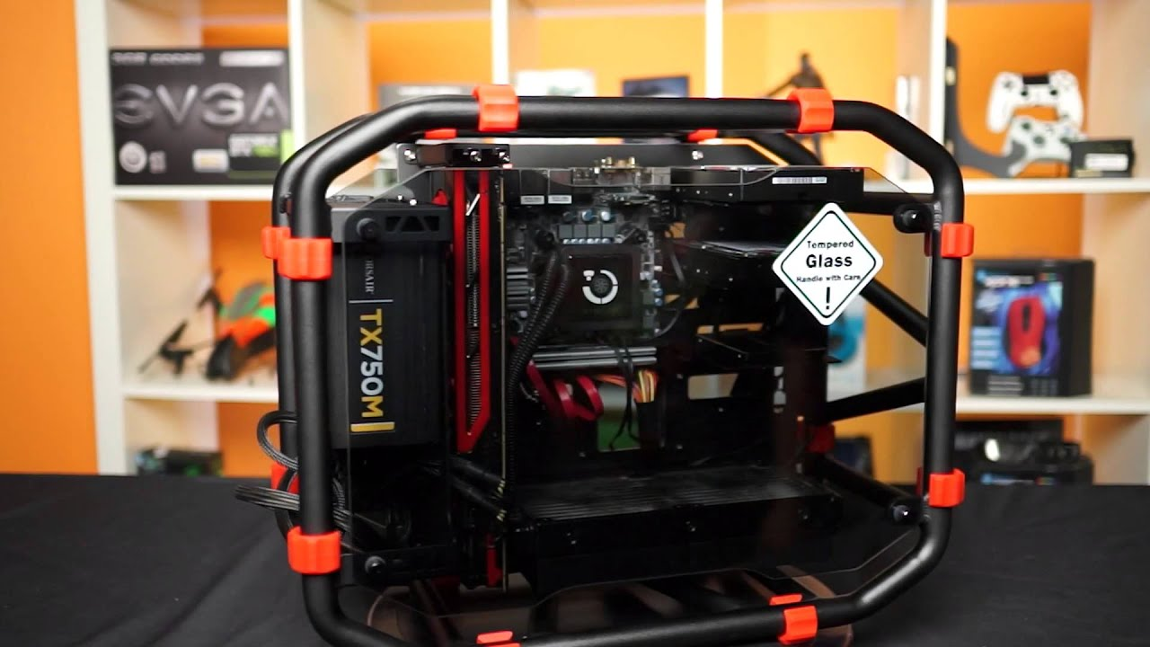 In Win D-Frame Mini mITX Aluminum Tube Open Air Chassis - YouTube