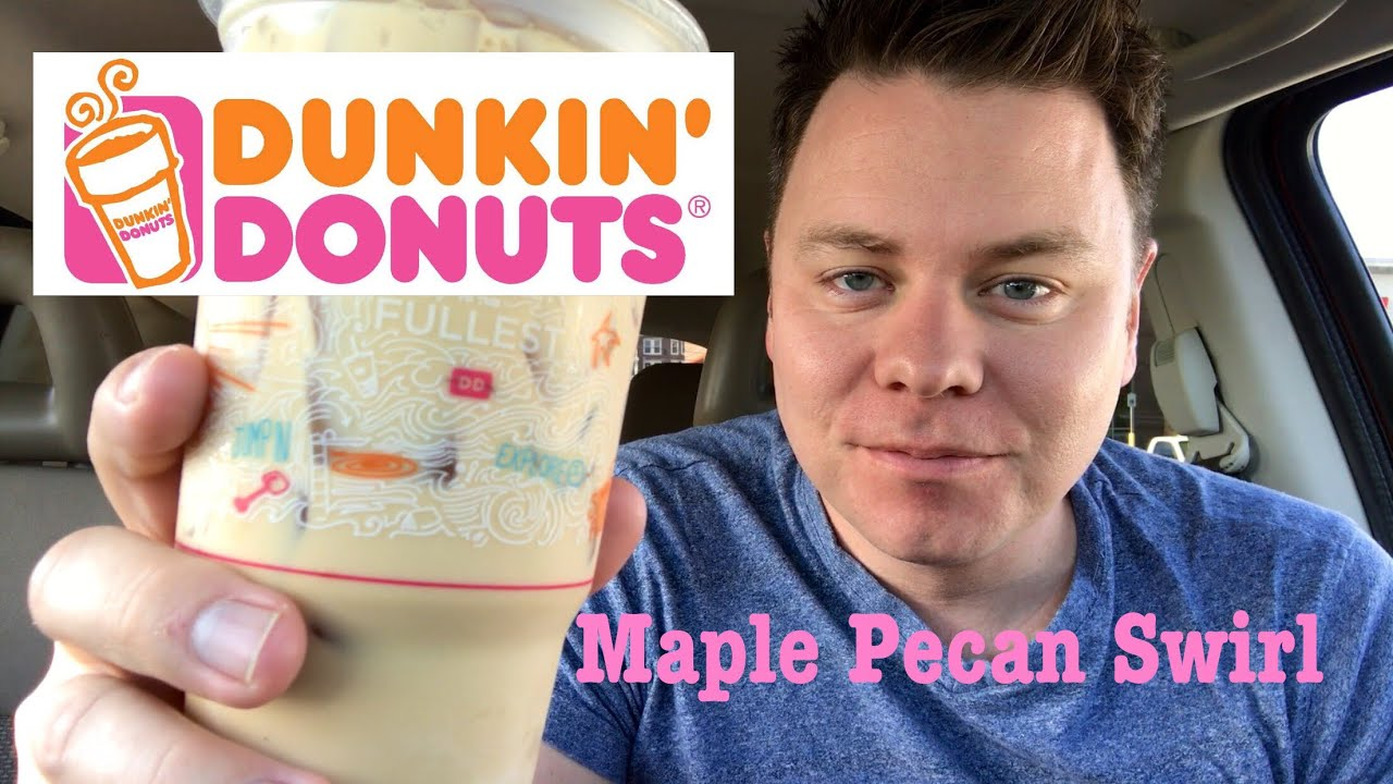 MAPLE PECAN SWIRL DUNKIN DONUTS ICED COFFEE TASTE REVIEW - YouTube