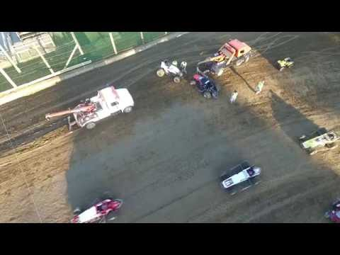 9/3/16 Lincoln Park Speedway Sprints Cars hooked - Drone