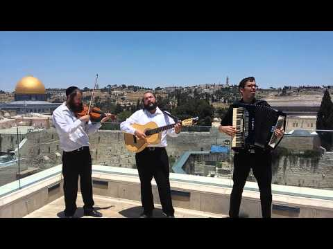 Lazer storch band on aish hatorah roof