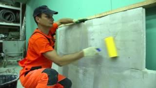 2. Подготовка основания: Укладка плитки на стену с использованием Крепс Усиленный