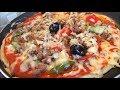طريقة عمل البيتزا البيتزا السائلة في المقلاة💕 ألذ وأسرع بيتزا بدون عجن وبدون فرن😋 فيديو من يوتيوب