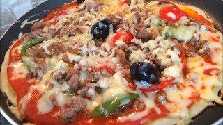 البيتزا السائلة في المقلاة