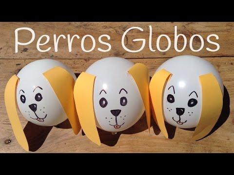 Perro hecho con globos para decorar una fiesta infantil