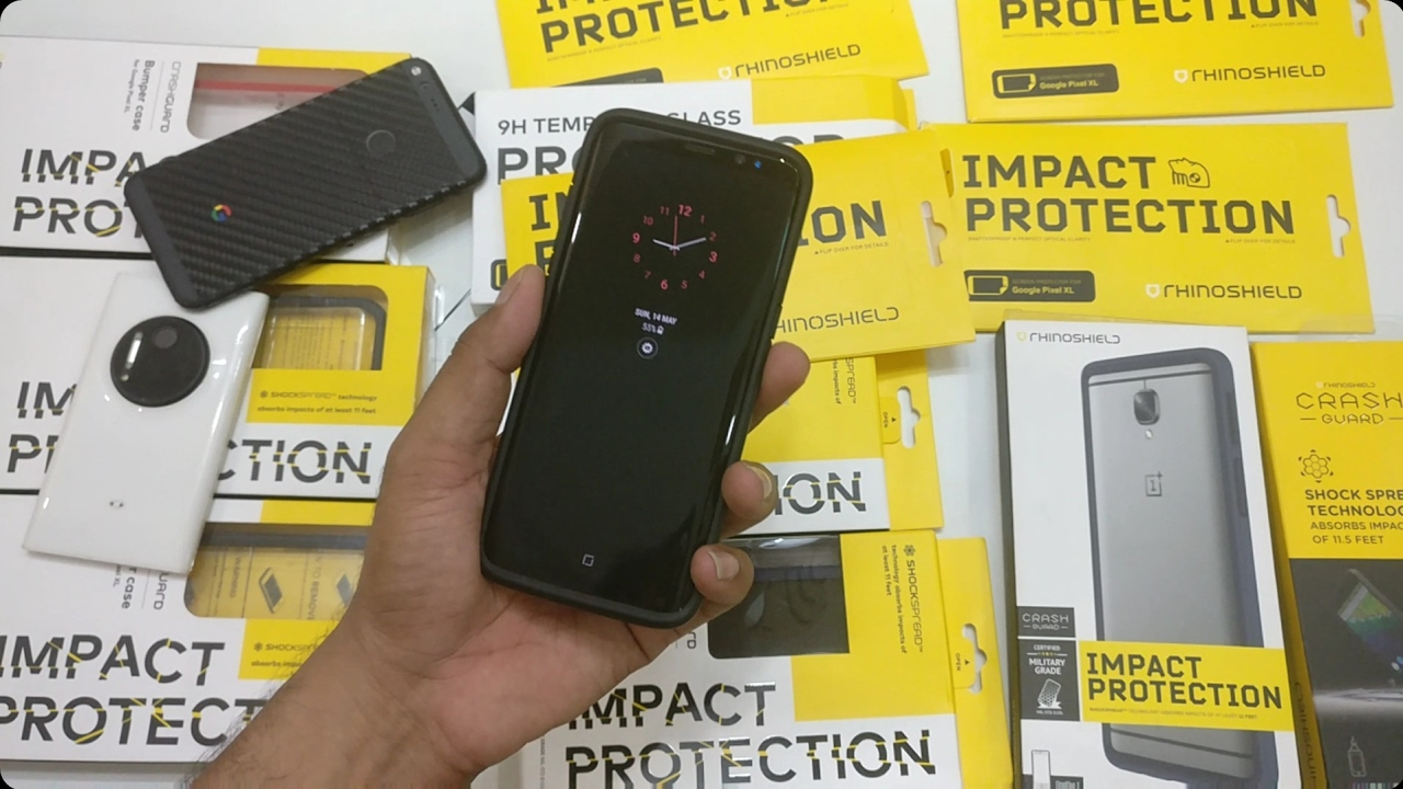 buy online 3a102 d8e88 Galaxy S8 Drop Test with RhinoShield Crash Guard & Tempered Glass