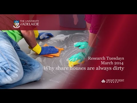 Why share houses are always dirty - Research Tuesdays March 2014