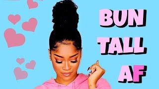 Sleek High Ninja Bun on Dry Natural Hair Tutorial (Bri Hall)