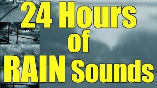 "Heavy Pouring Rain and Thunder   24 Hours   ""Rain"" ""Rain Sounds"" ""Sleep Sounds"""