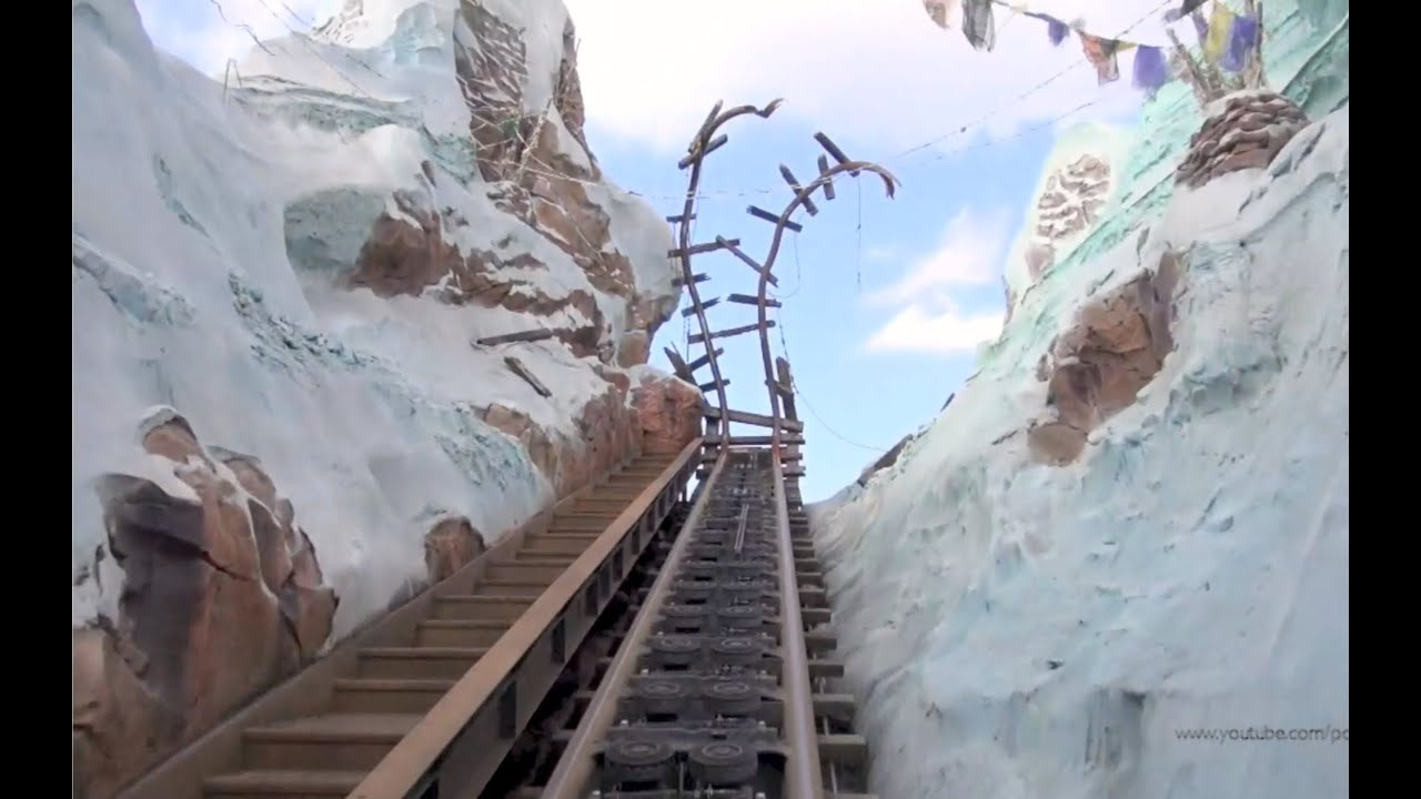 Expedition Everest POV in REVERSE Backwards with Night Vision Disneys Animal Kingdom Disney