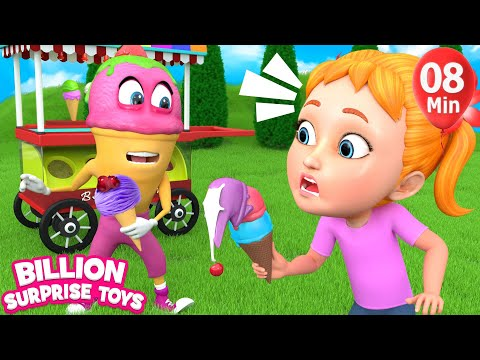 Songs for Children Kids Baby | Ice cream Song & Rhymes - Color learning video