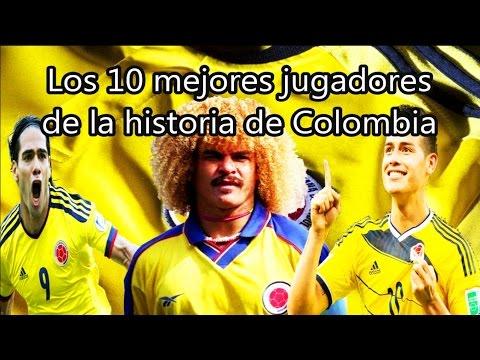 Los 10 mejores jugadores de la historia de COLOMBIA | Fútbol Social