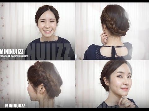 [Hair tutorial] ถักเปียมงกุฎ ง่ายๆ step by step ..by mininuiizz (ทรงซังกุง)