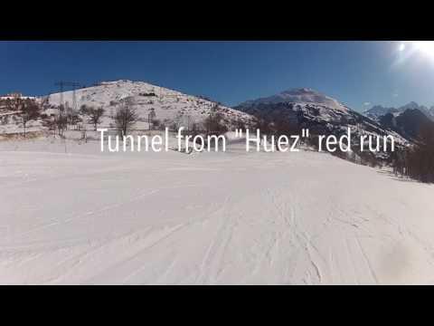 Village blue piste to Huez - Alpe d'Huez