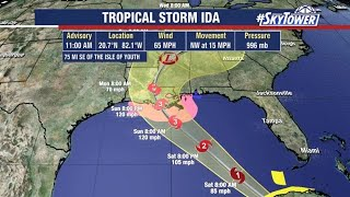 Tropical Storm Ida: Friday track update & forecast