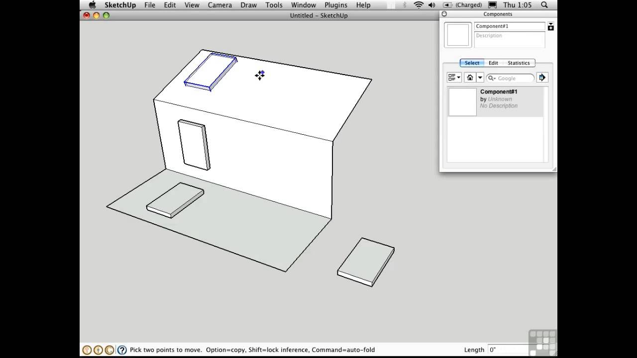 Sketchup Tutorial | Gluing Components