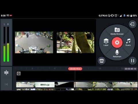 Cara menggabungkan 2 video dalam 1 layar menggunakan android (kinemaster)