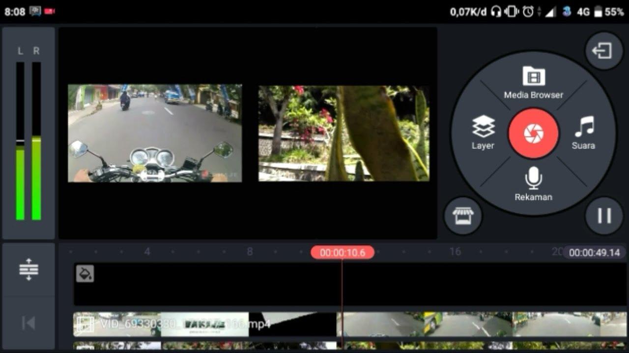 Cara Menggabungkan 2 Video Dalam 1 Layar Menggunakan Android Kinemaster Youtube